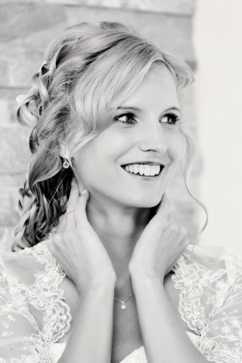 Portrait of beautiful smiling bride